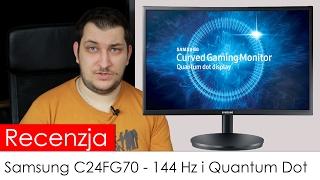 recenzja samsung c24fg70 najlepszy monitor z 144 hz i quantum dot