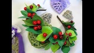 Обруч с калиной и листьями своими руками DIY Flower Crown Tutorial