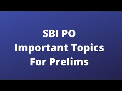 SBI PO | Important Topics for Prelims | SBI PO Prelims | SBI PO Mains | Oliveboard
