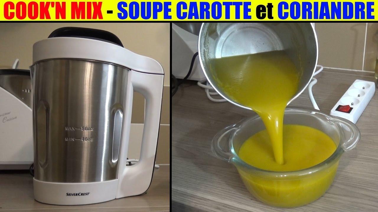 soupe carotte coriandre cook n mix lidl silvercrest