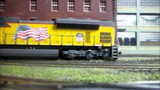 mth sd70ace up 8444 on the jvmrra club layout
