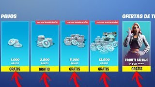 HOW TO GET SKINS AND PAVOS FREE IN FORTNITE!! - NO TIPS - NEW METHOD 2019