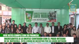 NUEVOS UNIVERSITARIOS INICIAN CON PIE DERECHO SU CARRERA, GRACIAS AL APOYO DE LA GESTION MUNICIPAL C