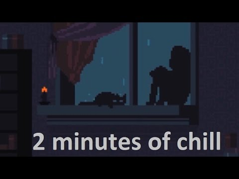 2 minutes of chill - 8bit videogame (GIF with relaxing music)