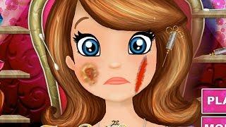 NEW Игры для детей—Disney Принцесса София поранила лицо—мультик для девочек