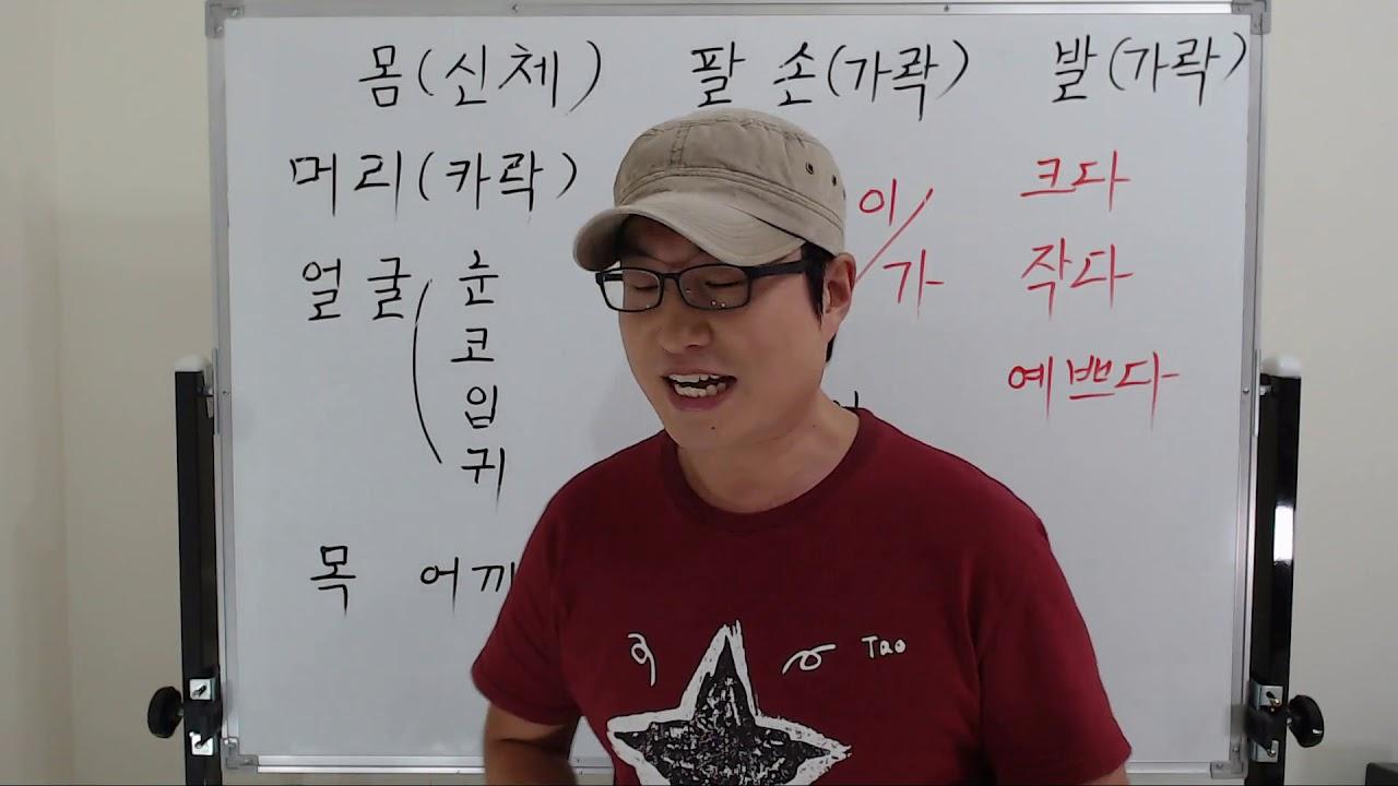 金老師的韓國語 1-17.學習韓文 單詞(身體有關的單詞) - YouTube