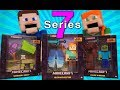 Minecraft Survival mode SERIES 7 (5 inch Action Figures) Leather Zombie, Green Sheep Mattel Unboxing
