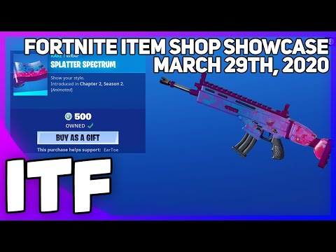 Fortnite Item Shop *NEW* SPLATTER SPECTRUM WRAP! [March 29th, 2020] (Fortnite Battle Royale)