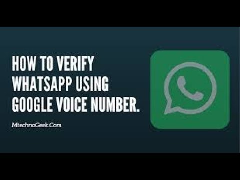 HOW TO GET GOOGLE VOICE NUMBER FOR WHATSAPP
