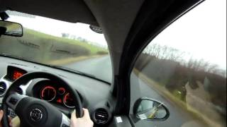 2011 Vauxhall Corsa 1.3 Eco Test Drive - Accelerations (GoPro HD)