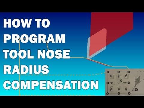CNC LATHE PROGRAMMING LESSON 6 - TOOL NOSE RADIUS COMPENSATION