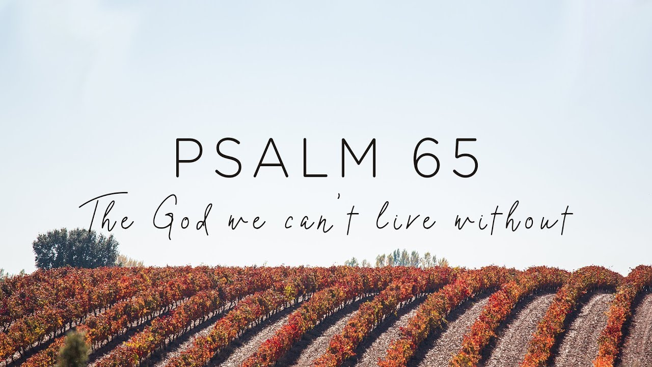 Psalm 65: The God We Can't Live Without - YouTube