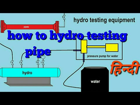 how to hydro test pipe/hydro testing equipment/hydro testing pipe in hindi