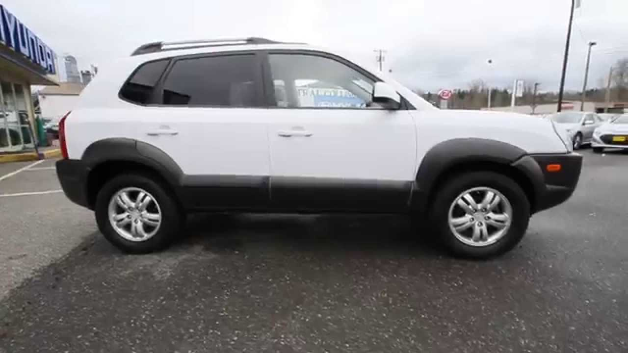 2007 hyundai tucson white 7u489831 skagit county. Black Bedroom Furniture Sets. Home Design Ideas