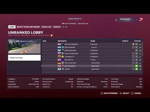 League of Europe | F1 2020 | Season 5 | Division 1 | Round 15 | Belgium