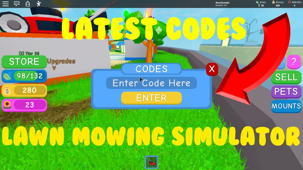 All New Lawn Mowing Simulator Codes New Pets Roblox Youtube