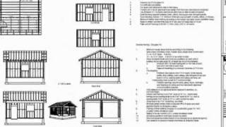 Free Garage Blueprints - Plan G435 Garage 20 X 20 X 9