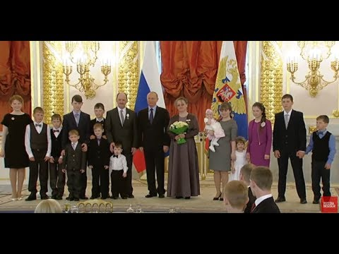 FAMILY VALUES: Putin Awards Large Families With The Order Of Parental Glory