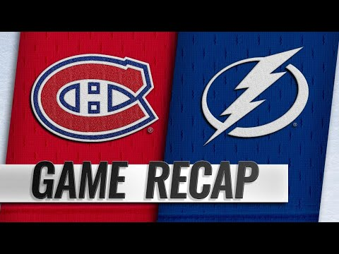 Erne, Lightning top Canadiens to extend streak