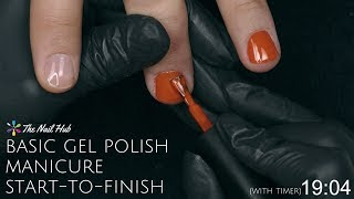 How To Apply Gel Polish Start-to-Finish (Real Time)