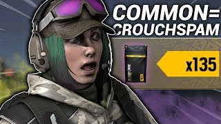 "Alpha Pack Opening, but for every ""common"" I show a crouchspam."