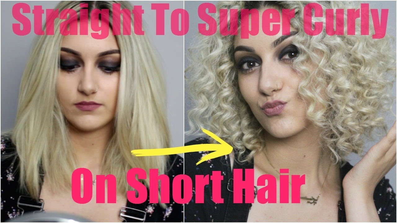 Straight To Super Curly On Short Hair Chopstick Tutorial Youtube