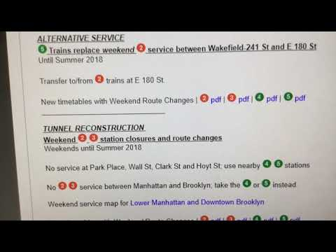 New York City Metropolitan Transportation Authority Service Advisory #1