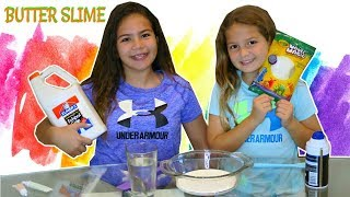 "HOW TO MAKE BUTTER SLIME WITH MODEL MAGIC ""SATISFYING VIDEO"" SISTER FOREVER"