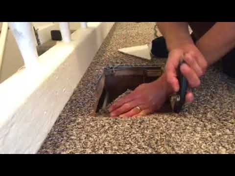 How to cut carpet to expose a floor vent