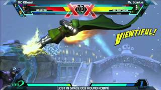 UMVC3: MC KBeast vs Mr. Sparkle - Round Robin - LOST IN SPACE 003