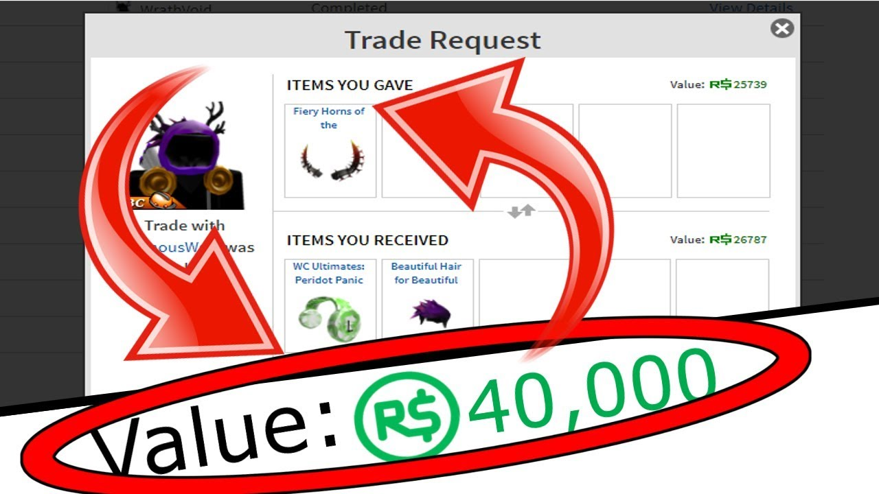 I Traded Away 40 000 Robux Roblox Trading Video 2 Youtube