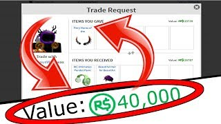 HO SCAMBIATO VIA 40.000 ROBUX... (Roblox Trading Video #2)