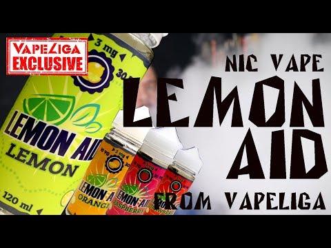 Lemon Aid by Nic Vape | ШИКАРНЫЙ ЛИМОНАД | from vapeliga.ru