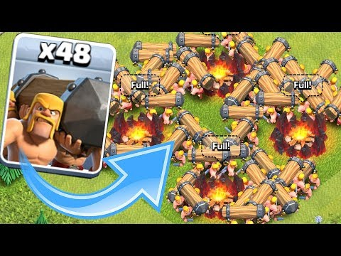 NEW TROOP x48 OVERKILL!! | Clash Of Clans | ALL BATTERING RAMS