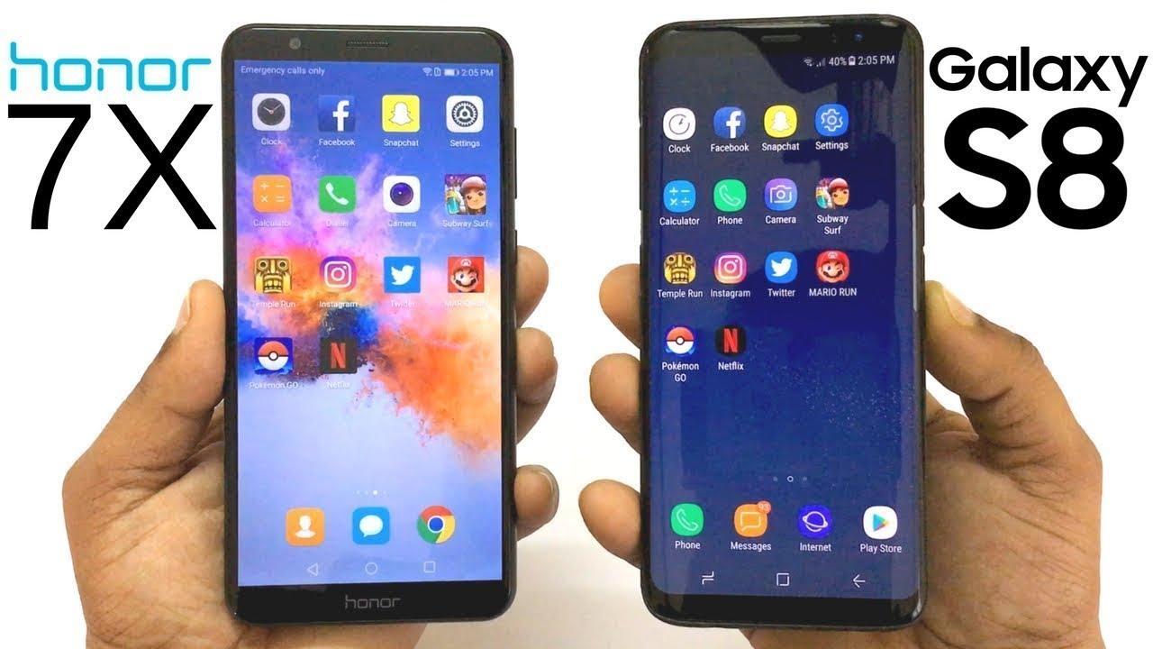 honor 7x vs iphone x