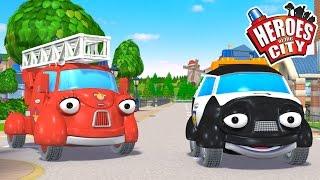 Trading Places - Heroes Of The City - Season 2 - EP#05 | Car Cartoons | Car Cartoons