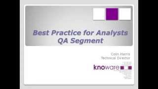 Data Analysis Quality Assurance Best Practices