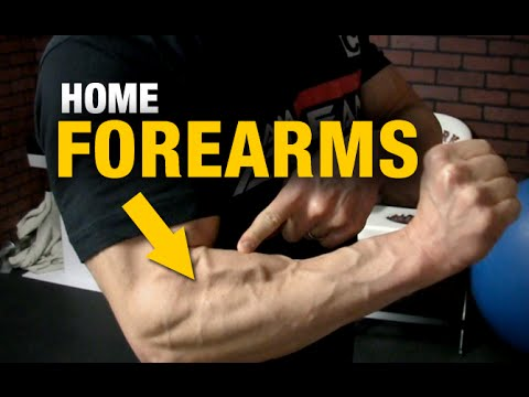 home forearm exercises ripped forearms  with a chair