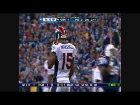 Brandon Marshall NFL RECORD (Most receptions in a game - 21)