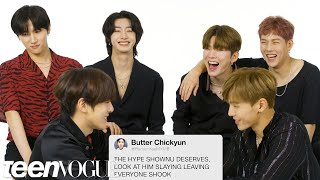 Monsta X Competes in a Compliment Battle | Teen vogue