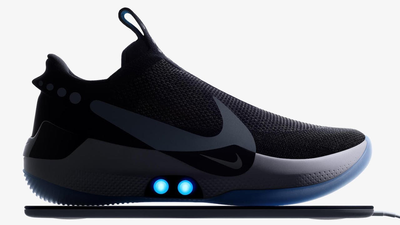 cerca escena llegar  Zapatos Nike con cordones automáticos ahora sí volvieron del futuro -  YouTube