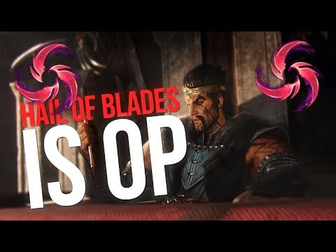 HAIL OF BLADES DRAVEN IS ACTUALLY BROKEN?!!  - League of Legends S9 thumbnail