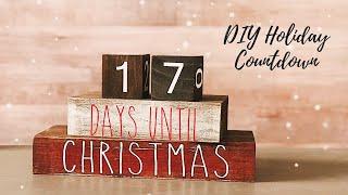 Christmas Countdown Blocks DIY Cricut Christmas | How to Cricut Stencil and Paint | Cricut Design