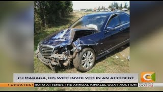 CJ David Maraga, his wife involved in an accident