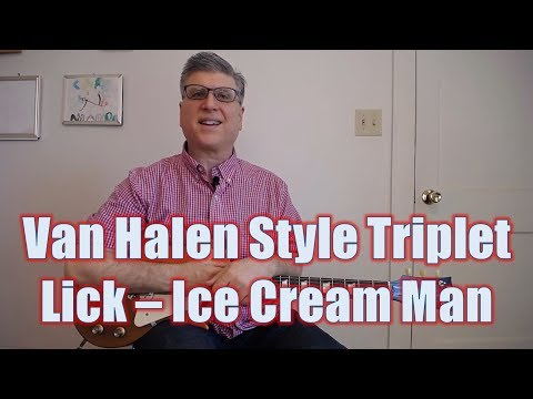 Van Halen Triplet Lick - Ice Cream Man (Guitar Lesson with TAB)