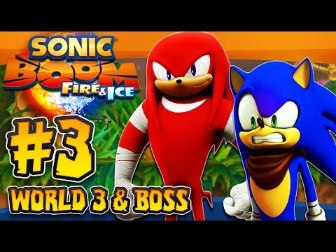 Sonic Boom Fire & Ice (3DS) - (1080p) Part 3 - World 3 Paleo Tarpits & Boss