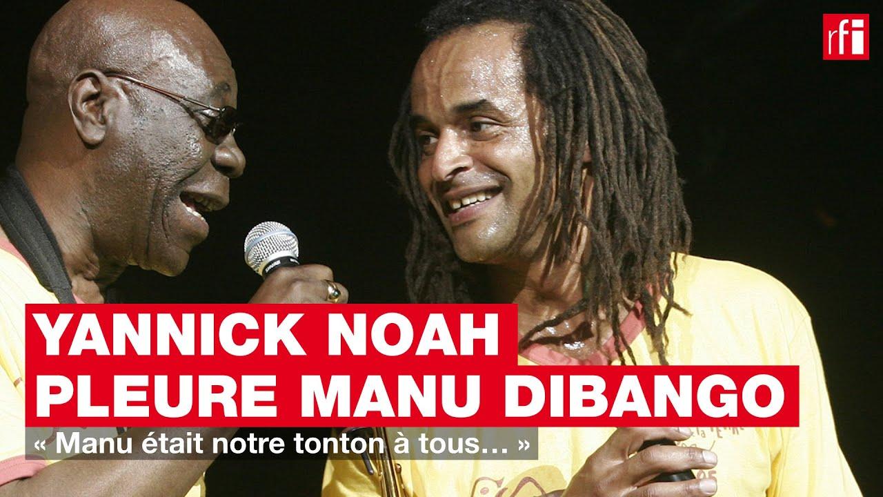 Yannick Noah pleure Manu Dibango - YouTube