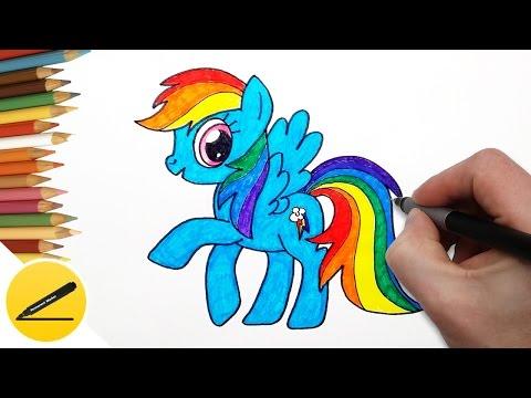 Как раскрасить радугу дэш