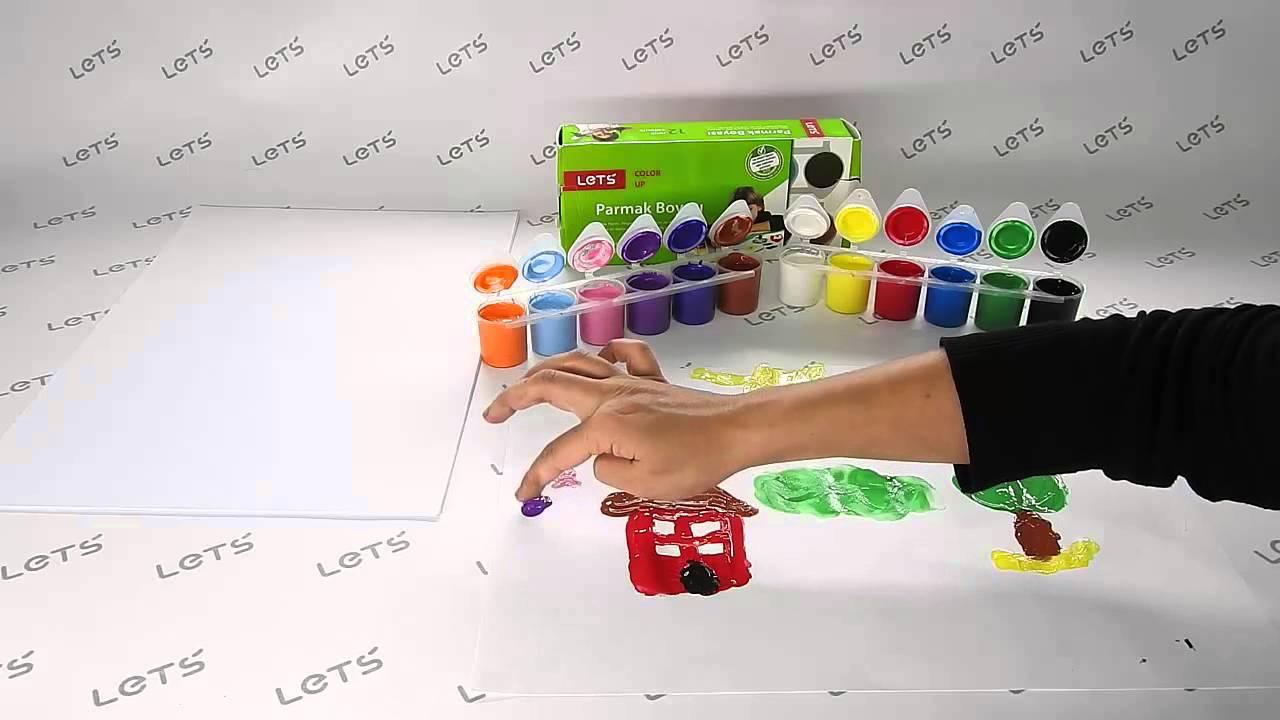 Lets Oyun Hamuru Setleri 12 Renk Parmak Boyası Youtube