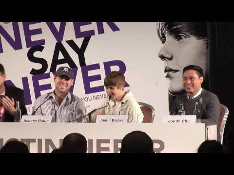 Justin Bieber Press Conference & European Premiere Interviews
